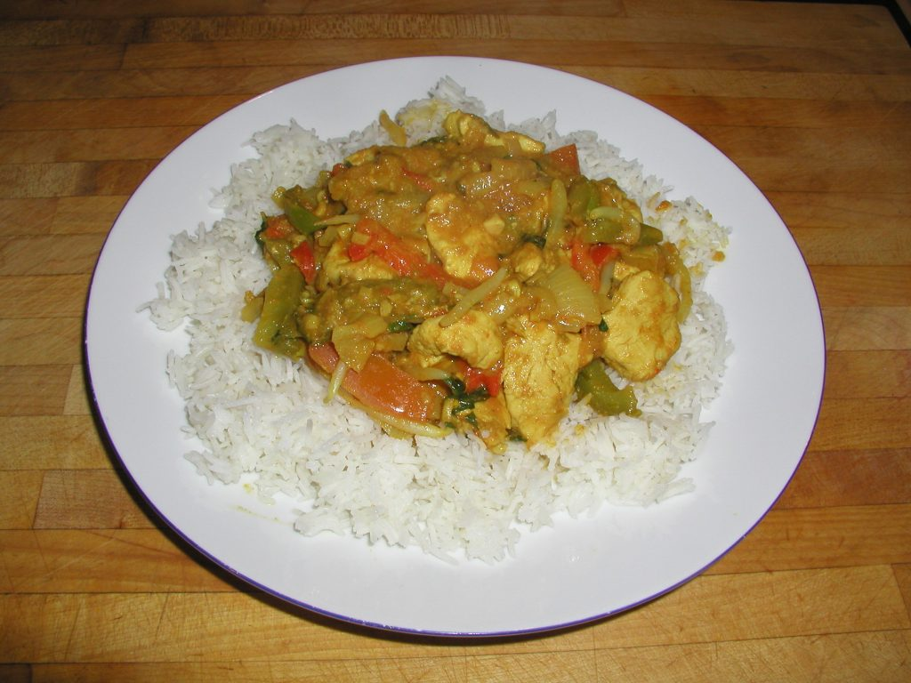 Plate of Simple Chicken Curry